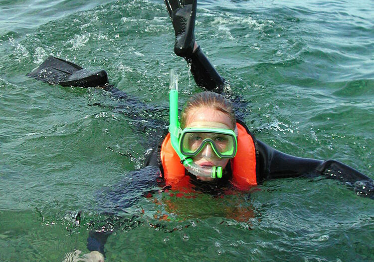 Young Girl Snorkeling; Diving Catalina; Casino Point Dive Park; Catalina Island; Avalon; California; Casino Point Snorkel Tour